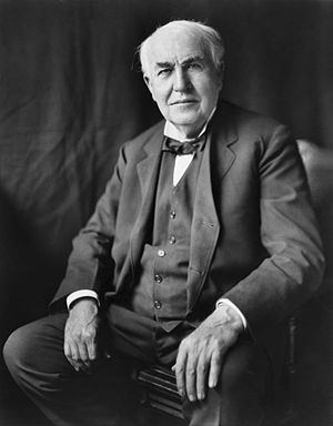 &quot;Thomas Alva Edison, three-quarter length...